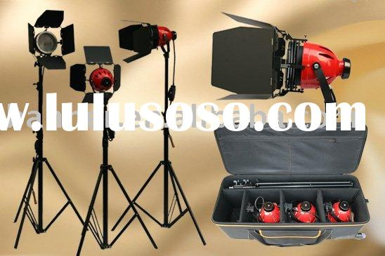 soft light (red head) kit with cool grid--photographic equipment