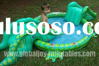 wholesale Kids inflatable pool with slide PO-046