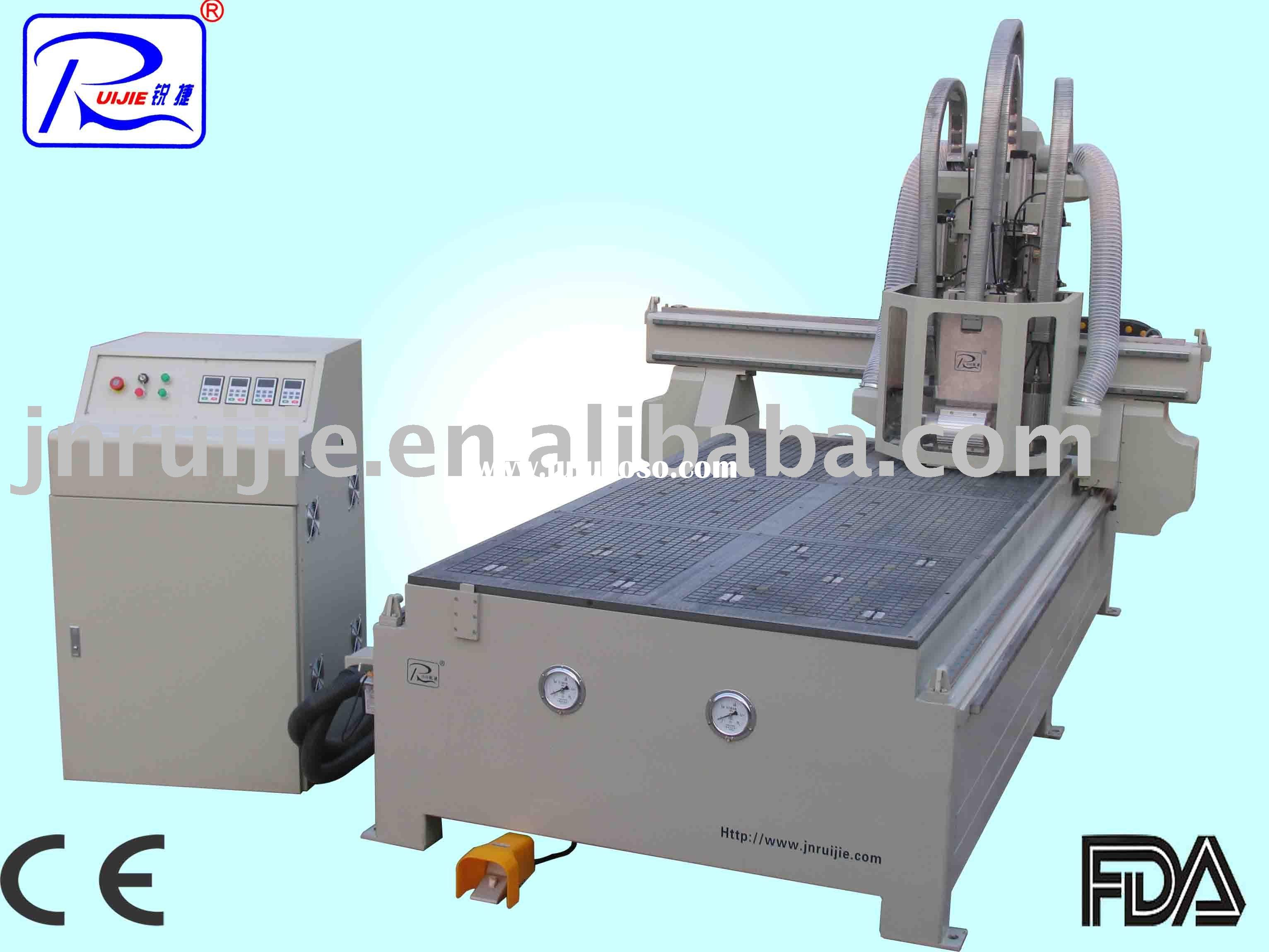 wood carving cnc router with 4 spindles