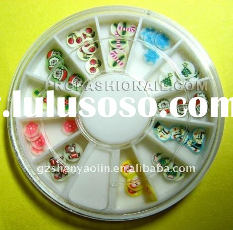 120 12 Color 3D X'max Slice Nail Polymer Clay Nail Art For Decoration With Wheel NA024