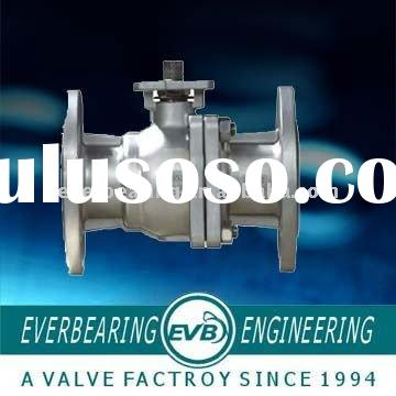 2-Piece Type Stainless Steel Flange Panel Mount Ball Valve