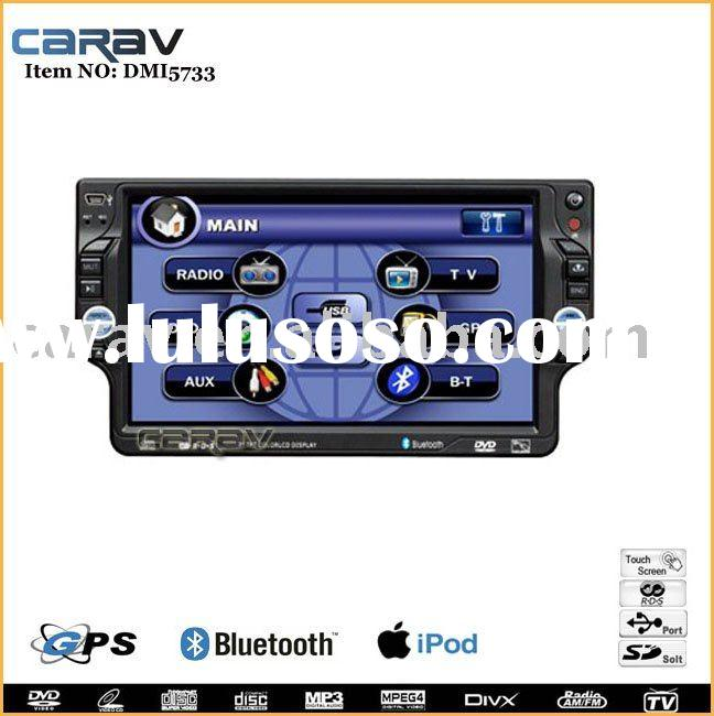 "Car video - 7"" one din car dvd player with grahpic OSD/Touch/ Bluetooth/USB/TV/DVD/AM/FM/RDS/IP"