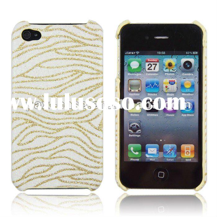 Custom hard plastic back cover case for iPhone 4 4s
