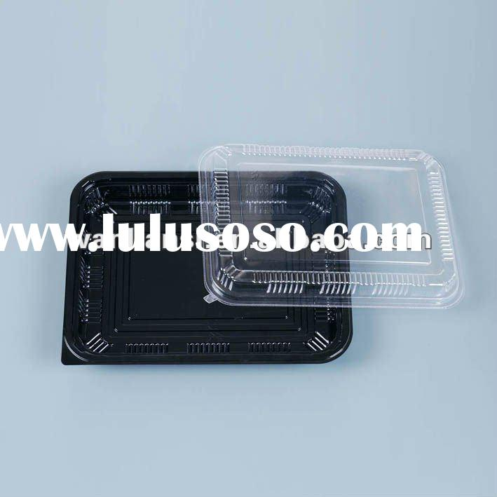 Disposable food container with transparent lid
