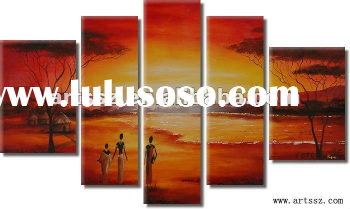 High Quality African Decorative Landscape Oil Painting