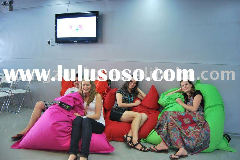 High quality and water-repellent nylon indoor bean bag for living room furniture in Shanghai exposit