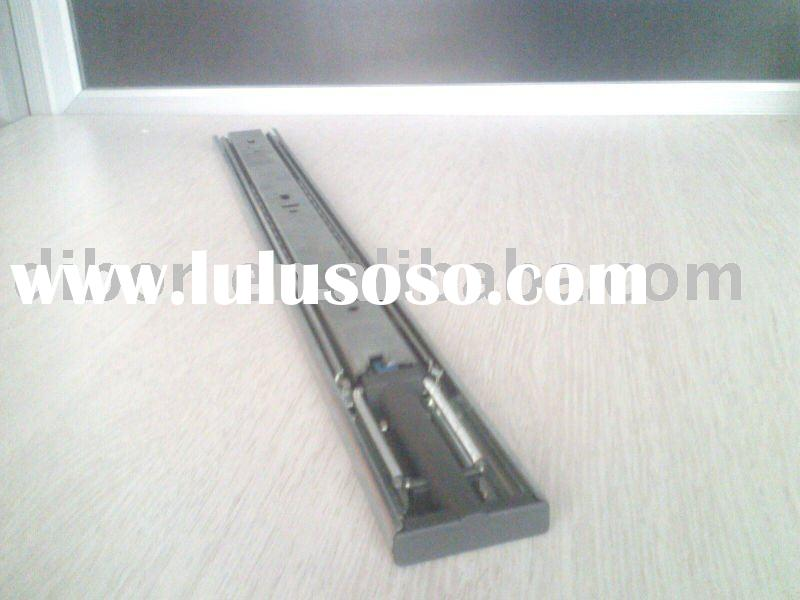 Hydraulic ball bearing drawer slide