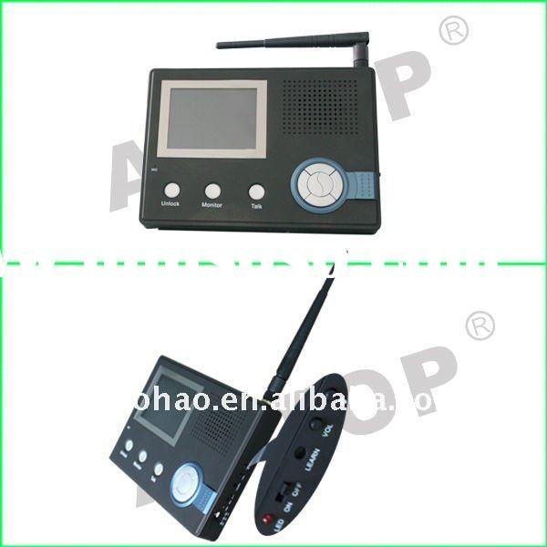 Long distance Wireless video intercom door phone with 2screens