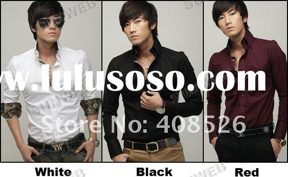 Men's Casual Shirts Slim Fit Stylish Dress 3 Color 3 size Wholesale