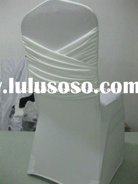 New Swag Cream White Spandex Chair Cover For Wedding/Nice swag lycra chair cover