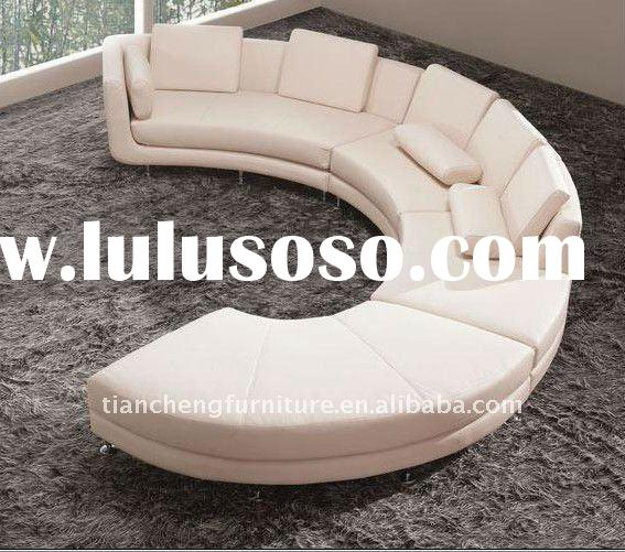Pink leather sofa settee/ settee couch