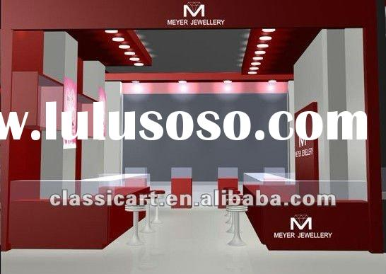 Retail furniture for glass cabinet in red