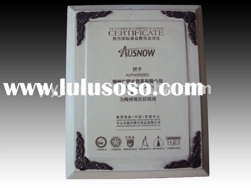White wood award plaque for distributor
