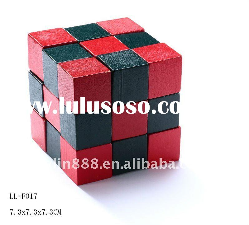 Wooden Snake Cube Puzzle for Kids