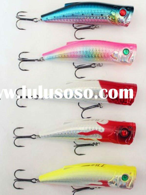 best fishing lures for sale popper 70mm10g hard led fishing lures