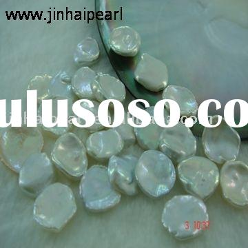 freshwater loose pearl (Opalescent color, shape as petals,Quality:AAA+)