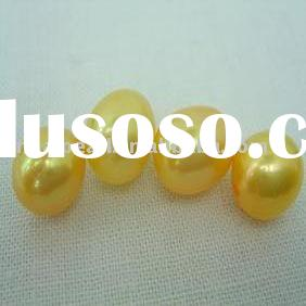freshwater loose pearl (Size:7.5-8mm yellow water drop pearl,Quality:A+)