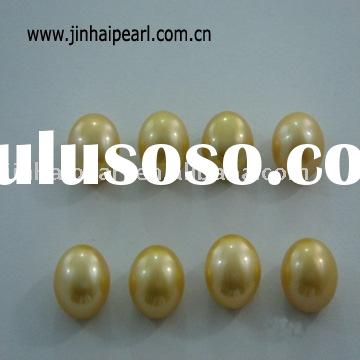 freshwater loose pearl (Size:9.5-10mm yellow bread pearl,Quality:AA)
