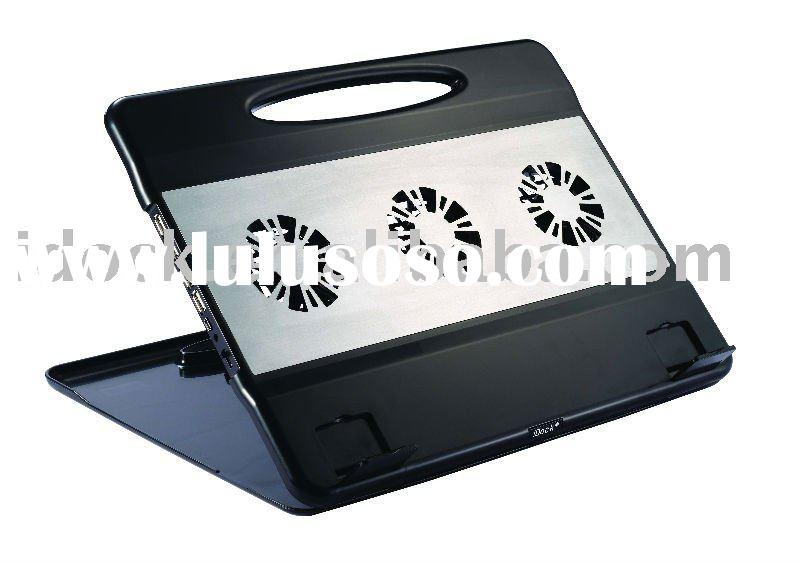 iDock 1600 Foldable laptop cooling stand with USB and 3 Fans