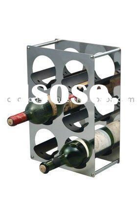 iron wine shelf,wine rack,wine holder,wine stand,bottle holder,rack,bottle holder,metal wine rack,bo