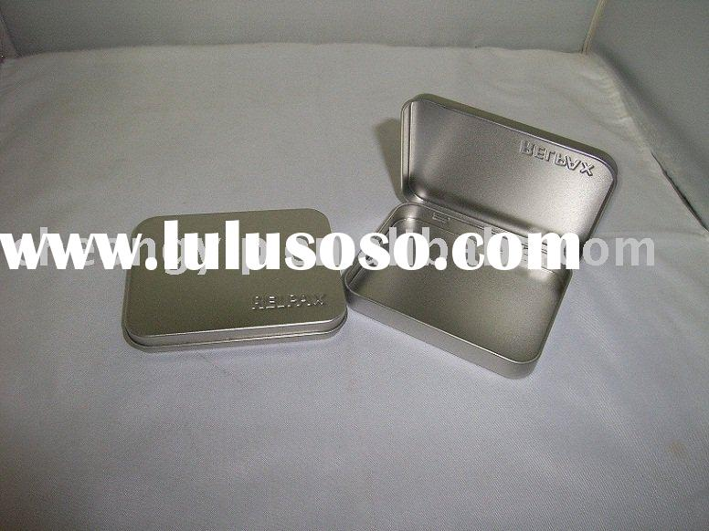 name card tin case box credit card holder id container metal
