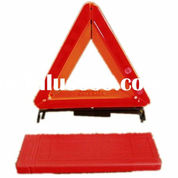 reflective emergency warning triangle road signs