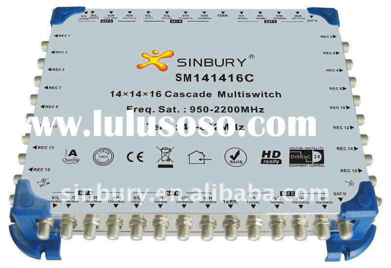 wide band Ku/Ka directv 14x14x16 cascade multiswitch