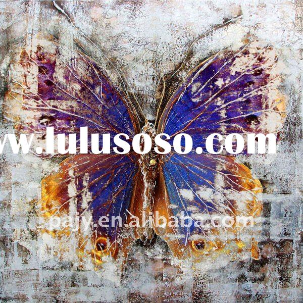 100 handpainted oil painting butterfly on canvas