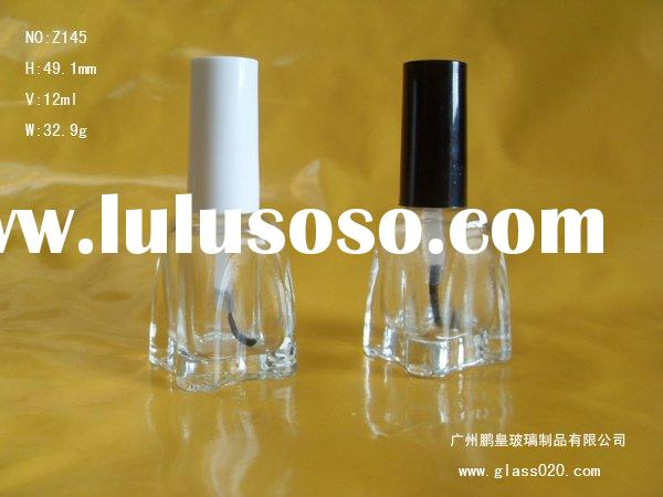 10ml glass nail polish bottle / rose glass nail polish bottle (made in china)