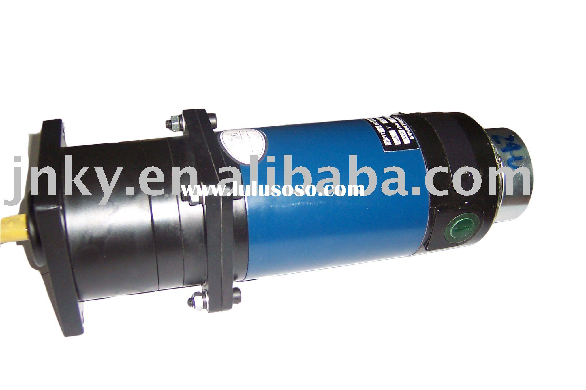 110V/245W dc gear motor with electromagnetic braking