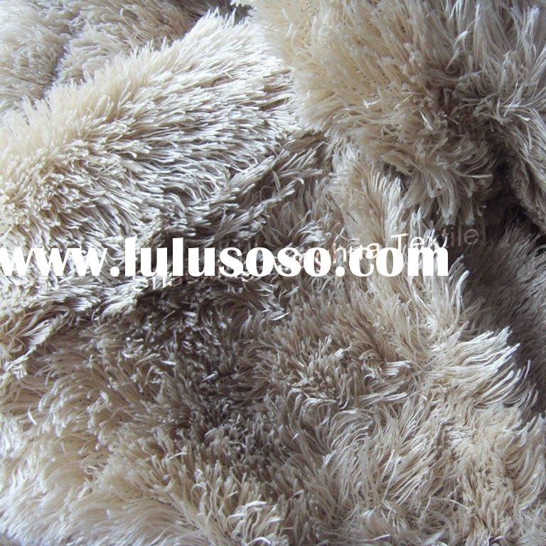 15mm pile super soft blanket with plush fur fabric