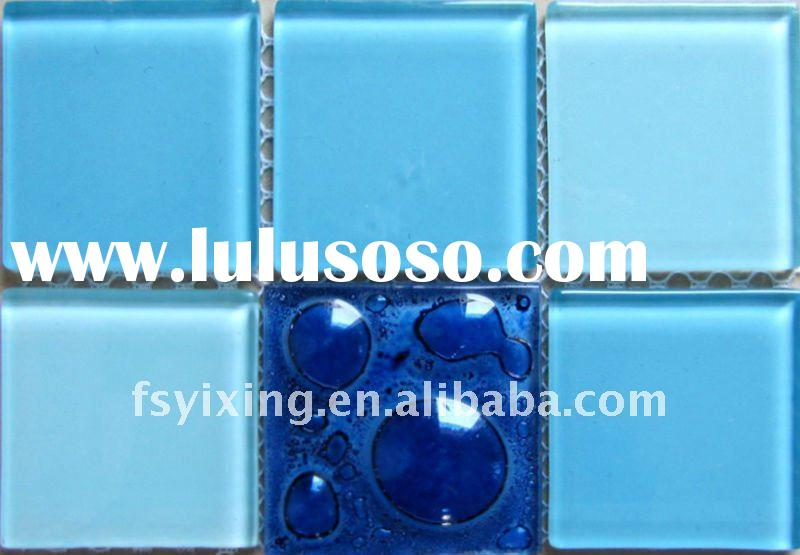"1.89""x1.89"" Hot Sale Bubble Glass Mosaic Blend Tile for bathroom kitchen swimming pool spa"