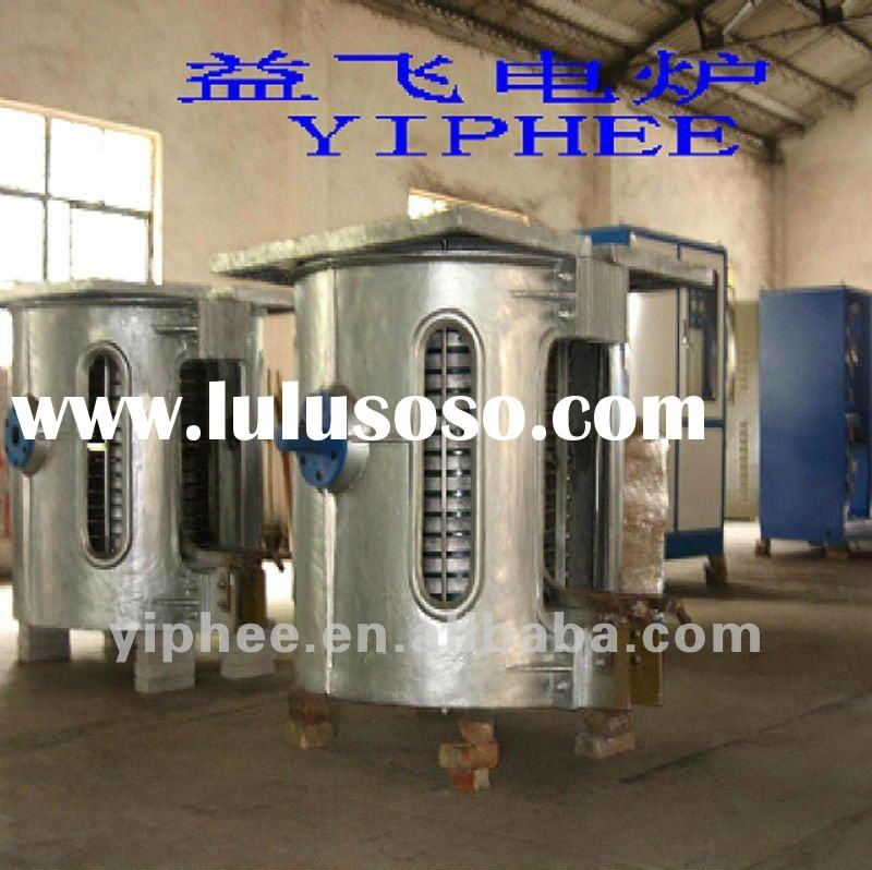 1ton crucible induction melting copper furnace