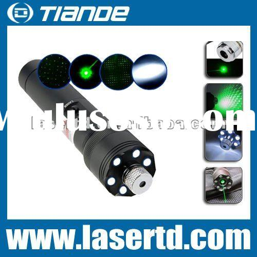 200mw high power Green Laser pointer with led flashlight