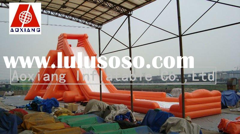 2011 hot sale high large giant inflatable water slide for adult