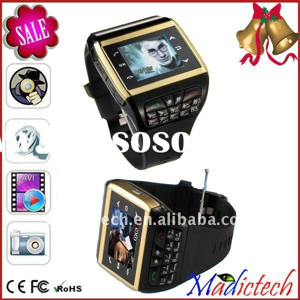2011 the hot ! Free shipping Touch Screen GSM Q6 Cell Watch Phone with Camera Bluetooth