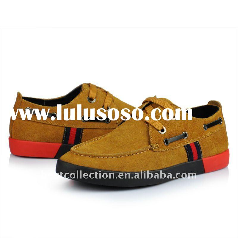 2012 hot selling leather lace-up casual shoe for men