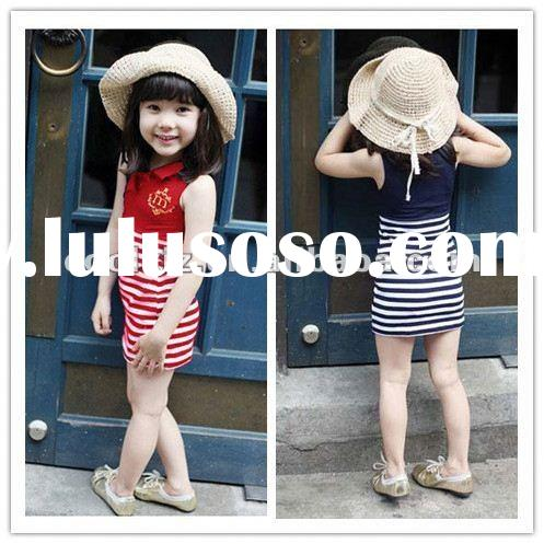 2012 new design lovely children's summer dress party girls one piece dress