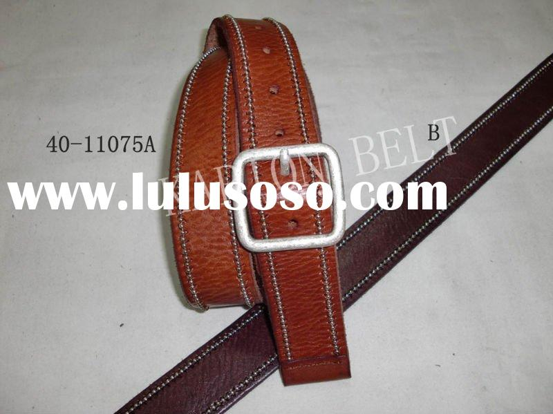 2012 women genuine red leather belt /high quality leather belt/ crystal belt