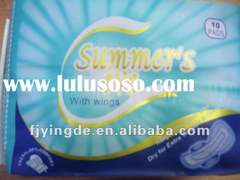 240mm OEM customized good quality day use 20pcs plastic sanitary napkin disposable bags with wings