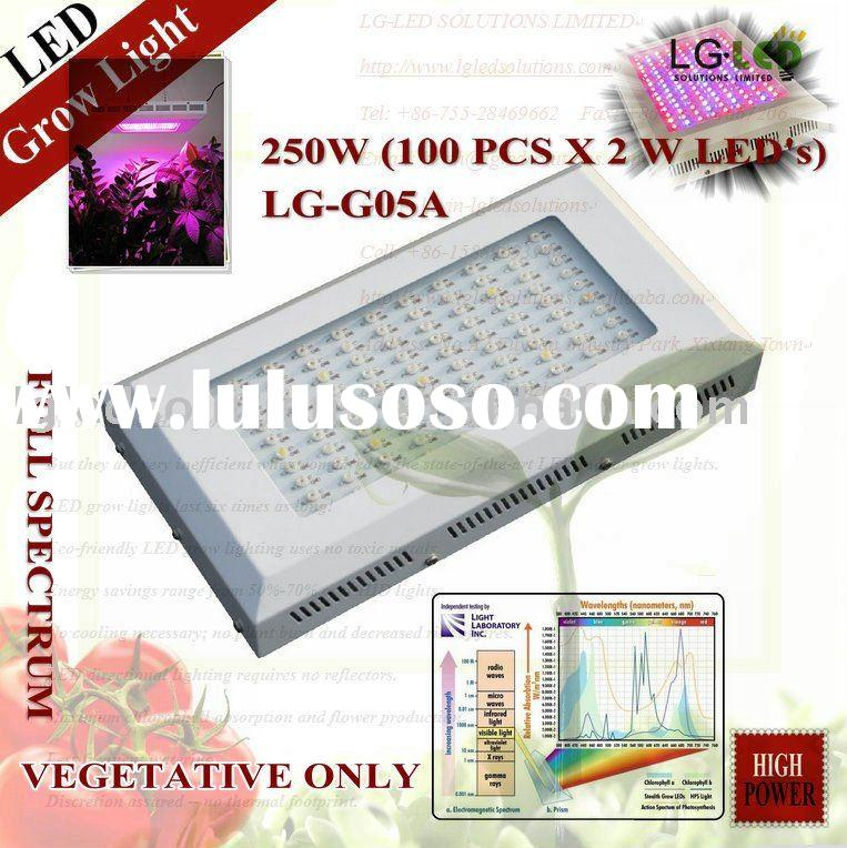250w Hydroponic led grow light, led growing light