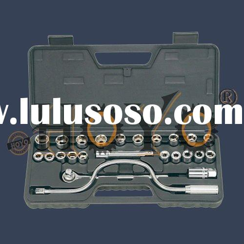 25 Piece Socket Set, 1/2''Drive,auto repair tool set