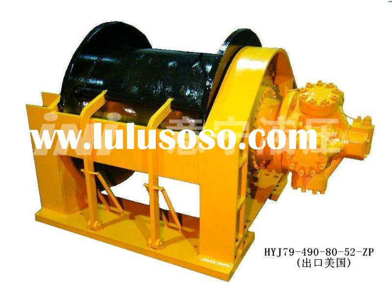 490KN/ 49 ton Hydraulic Winch for dredging cranes, floating cranes exported to USA