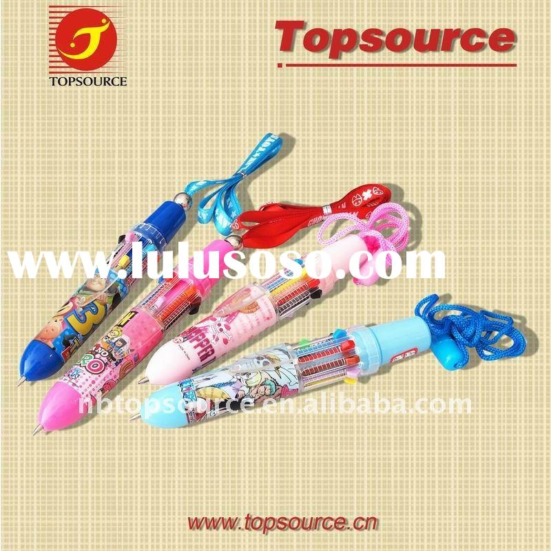 4colors Multicolor pen with lanyard