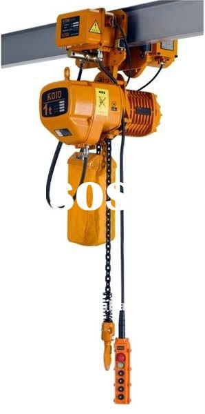5 ton electric chain hoist with electric trolley
