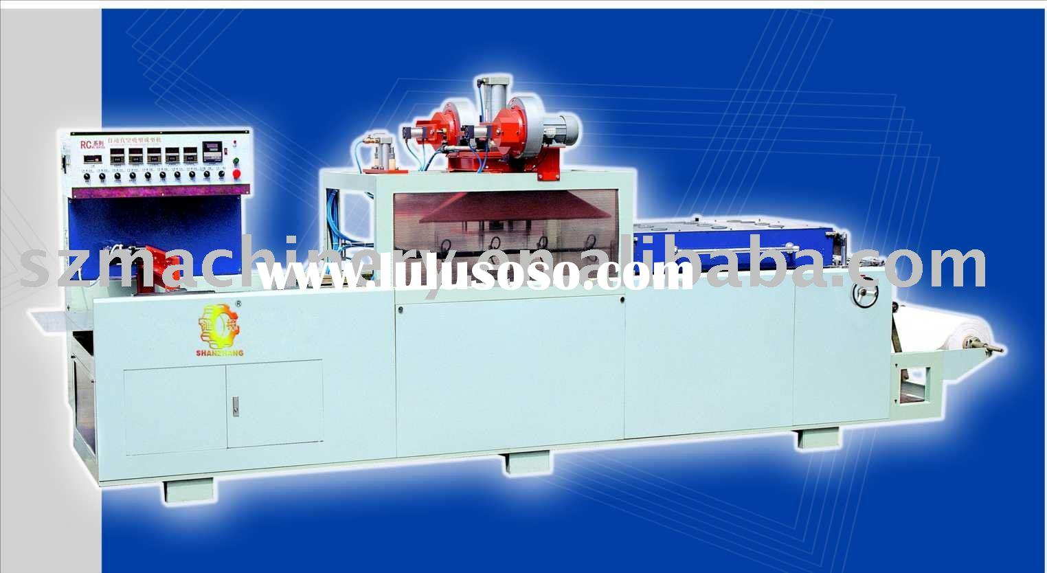 71/117S Plastic Vacuum Thermal Forming Machine Thermoforming,Up one times heating