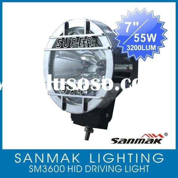 "7"" Auto Driving light Fog lamp, HID light with spot and flood beam optional 3600"
