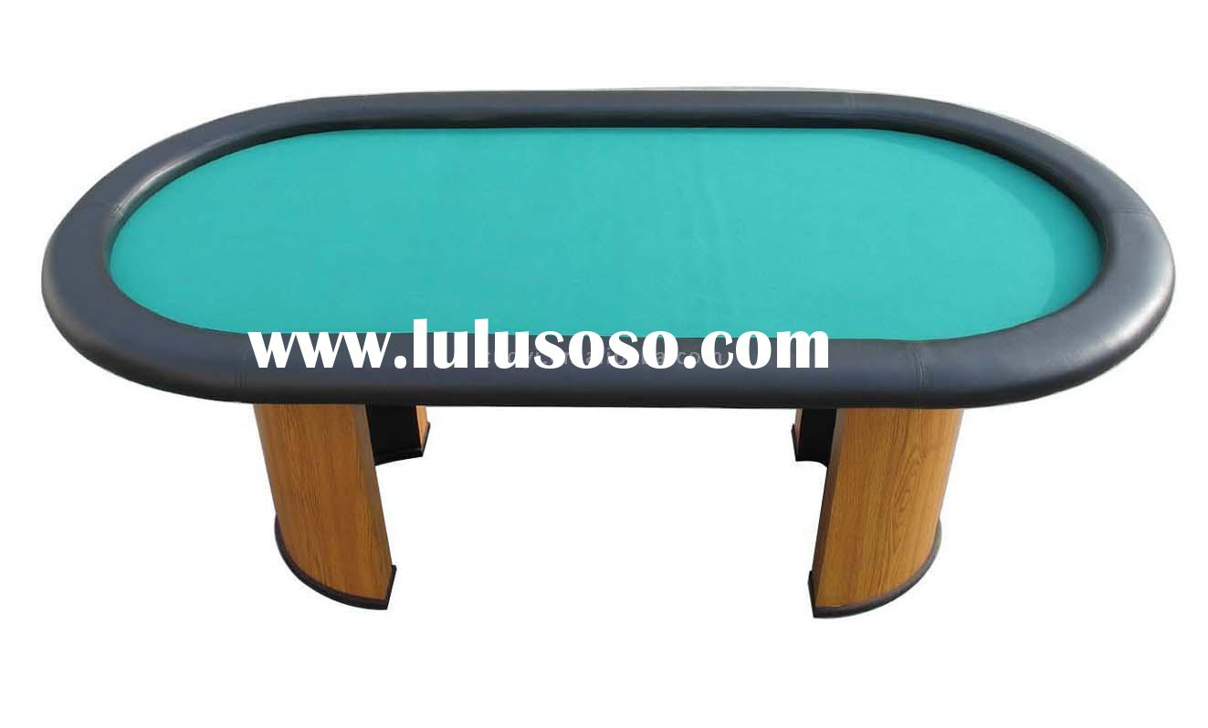 "84"" Texas Hold em Poker Table with wooden leg"