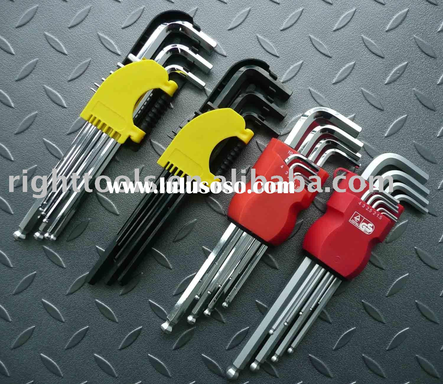 9pc Extra Long arm hex key set/allen key/wrench tool