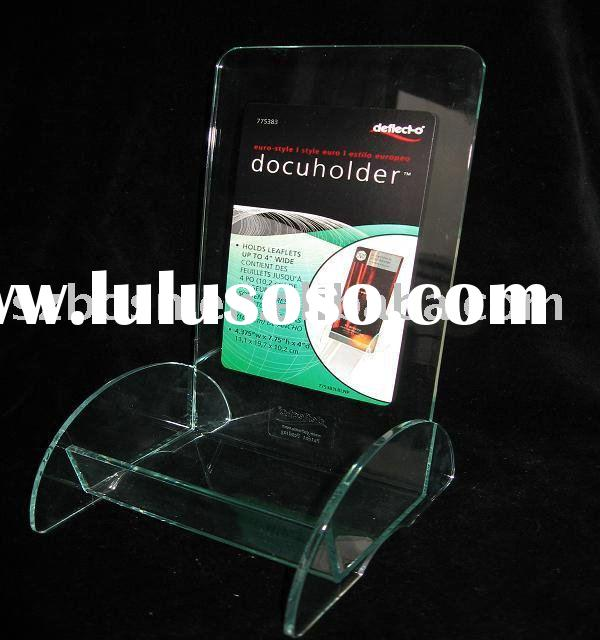 Acrylic Brochure Holder,Lucite Desktop Organizer,Plexiglass Book Shelf